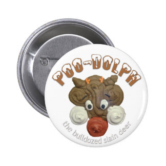 Poo-Dolph 2 Inch Round Button