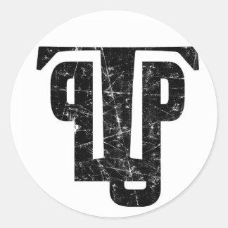 Poo Poo Platters Grunge Sticker 2