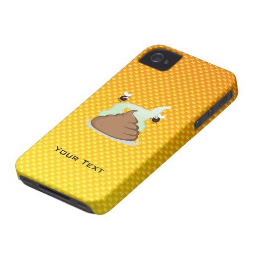 Poo Stinky amarillo-naranja Case-Mate iPhone 4 Cárcasas