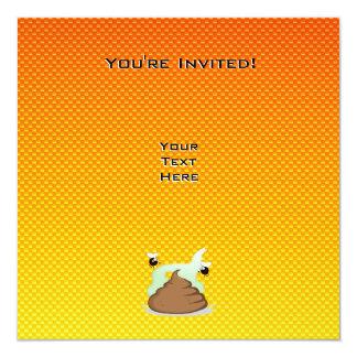 Poo Stinky amarillo-naranja Invitación