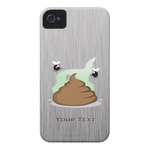 Poo Stinky; Metal-mirada Case-Mate iPhone 4 Funda