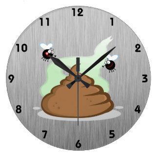 Poo Stinky; Metal-mirada Reloj De Pared