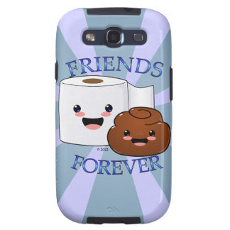 Poo y papel higiénico BFFS Galaxy S3 Carcasa