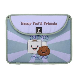 Poo y papel higiénico BFFS Fundas Para Macbook Pro