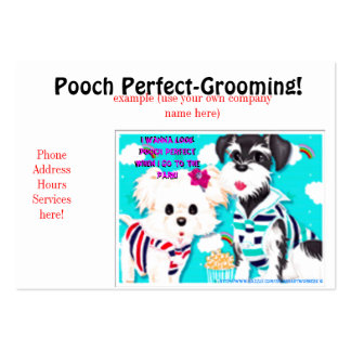 """Pooch Perfect Grooming BC"" Business Card"