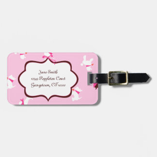 Pooches in Pink Tag For Luggage