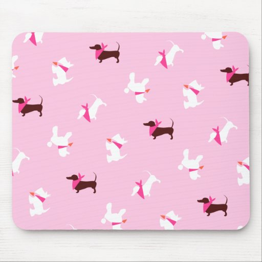 Pooches in Pink Mouse Pad
