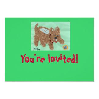 """Poochie Invitation 5"""" X 7"""" Invitation Card"""
