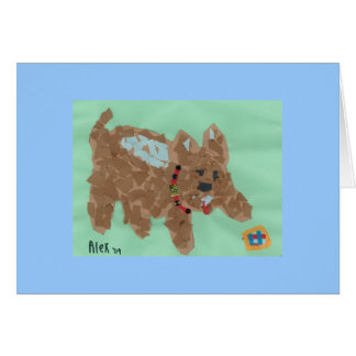 Poochie's Note Card (Dog card)