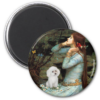 Poodle (11W) - Ophelia Seated 2 Inch Round Magnet