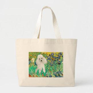 Poodle (14W) - Irises Large Tote Bag