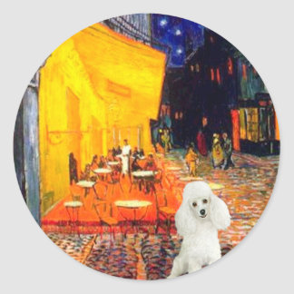 Poodle (14W) - Terrace Cafe Classic Round Sticker