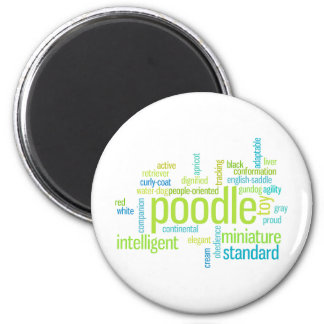 Poodle 2 Inch Round Magnet