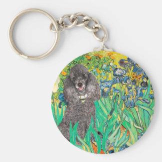 Poodle (8S) - Irises Basic Round Button Keychain