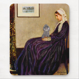 Poodle (8S) - Whistler's Mother Mouse Pad