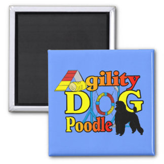 Poodle Agility Gifts 2 Inch Square Magnet
