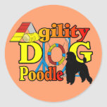 Poodle Agility Gifts Classic Round Sticker