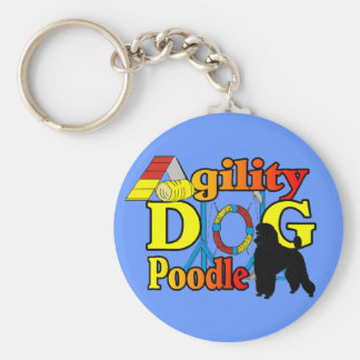 Poodle Agility Gifts Keychain