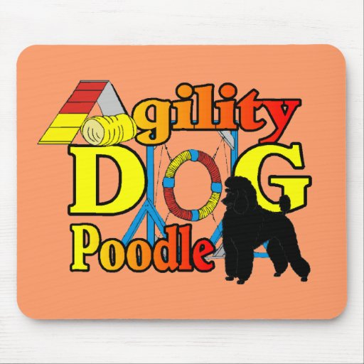 Poodle Agility Gifts Mouse Pad