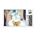 Poodle and Cupcakes Tea Party Postage Stamps