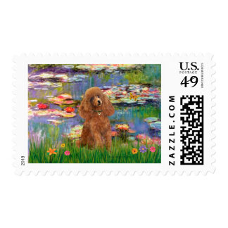 Poodle (Apricot 10) - Lilies 2 Stamp