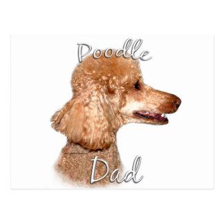 Poodle (apricot) Dad 2 Postcard
