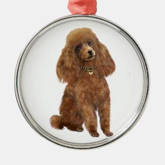 Poodle - Apricot Metal Ornament