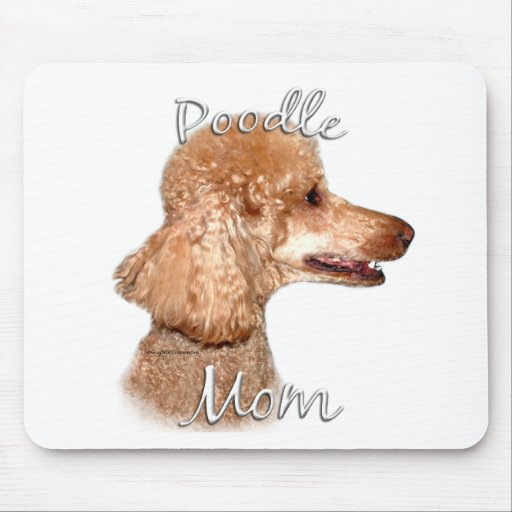 Poodle (apricot) Mom 2 Mouse Pad