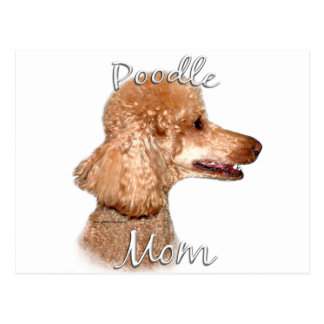 Poodle (apricot) Mom 2 Postcard