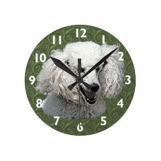 Poodle Art Wall Clock
