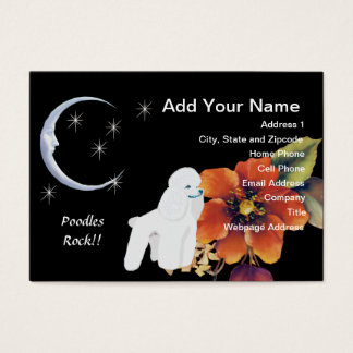 Poodle - Autumn Leaves Design Business Card