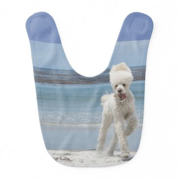 Beach Themed Poodle Baby Bib
