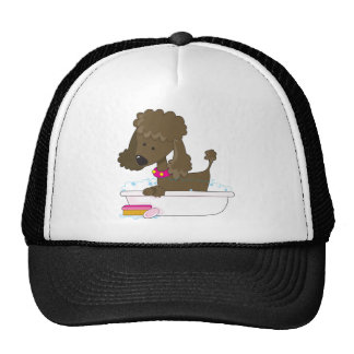 Poodle Bath Trucker Hat
