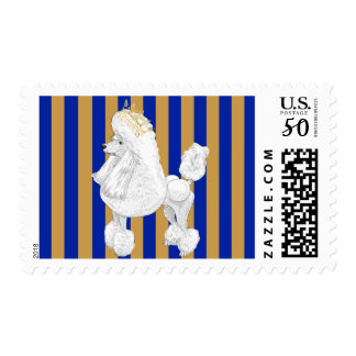 Poodle Behavior Postage Stamps