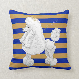 Poodle Behavior Throw Pillow