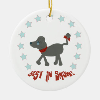 Poodle Best in Show Ceramic Ornament