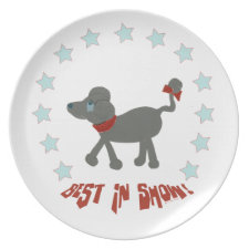 Poodle Best in Show plate