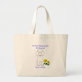 Poodle Best Things In Life Tote Bag