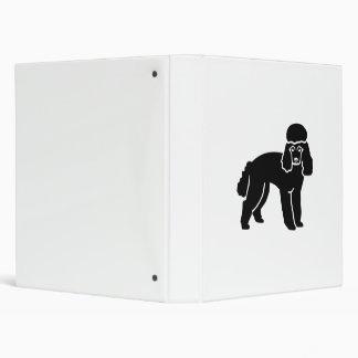 Poodle Vinyl Binder