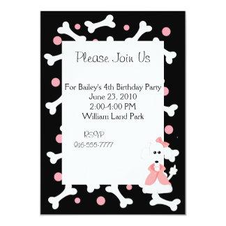 Poodle Birthday Invitation