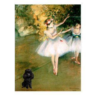 Poodle (Black1) - Two Dancers Post Cards