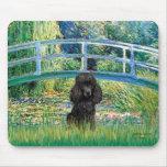 Poodle (black 1) - Bridge Mouse Pad