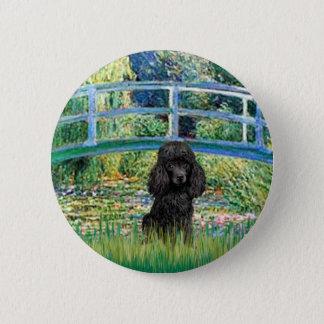 Poodle (black 1) - Bridge Pinback Button