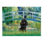 Poodle (black 1) - Bridge Postcard
