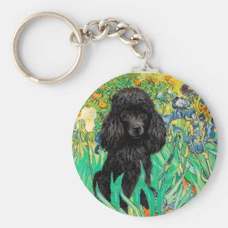 Poodle (black 1) - Irises Basic Round Button Keychain