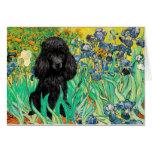 Poodle (black 1) - Irises Card