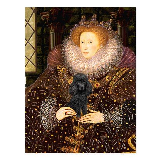 Poodle (black 1) - Queen Postcard