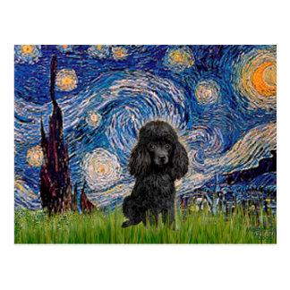 Poodle (black 1) - Starry Night Postcards