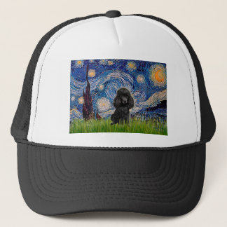 Poodle (black 1) - Starry Night Trucker Hat