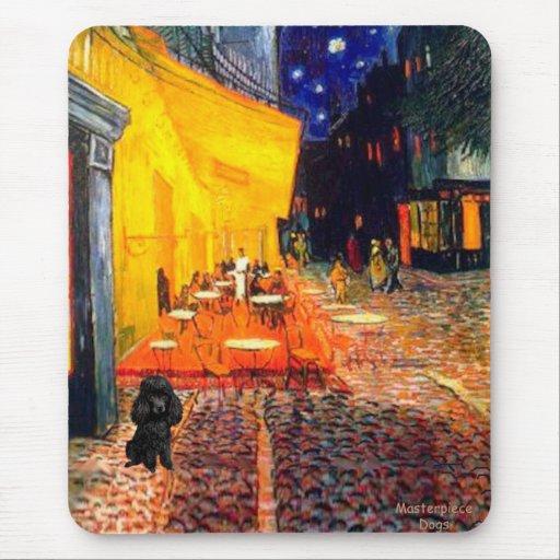 Poodle (black 1) - Terrace Cafe Mouse Pad
